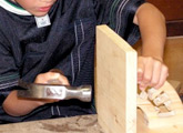 Use power tools and work with your hands in Woodworking.