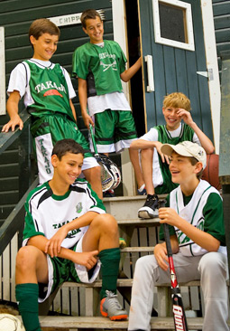 Boys play what they like and get introduced to other great sports.