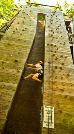 Don't worry. Finding camp is much easier than climbing the wall but almost as fun!